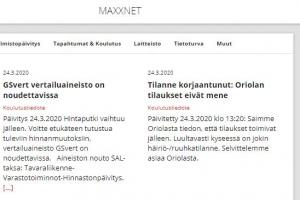 Korona-info kootusti MAXXnetissä