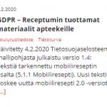 GDPR-materiaali päivitetty